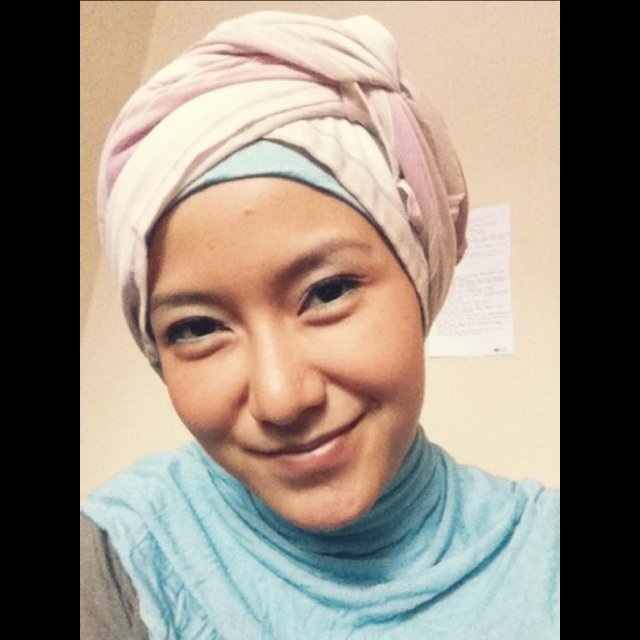 Turban Style, no need any pin. all you need is only 30 second to go ;)
