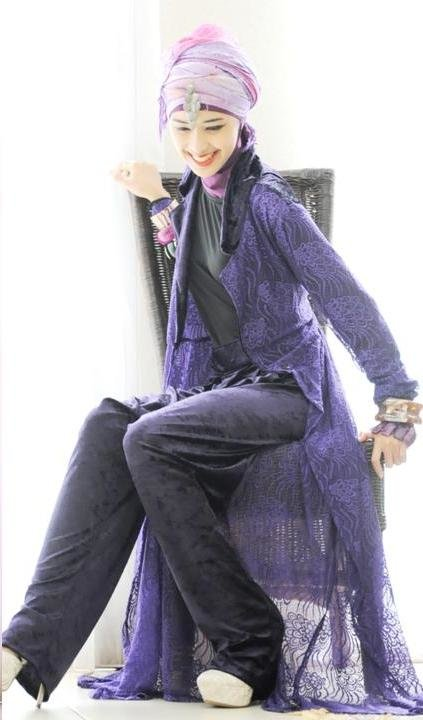 Jubah Brokat PURPLE LOOK!